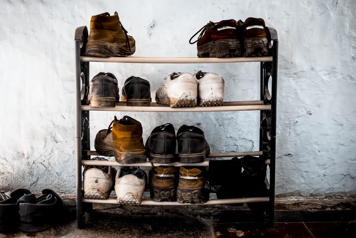 シューズラックと靴